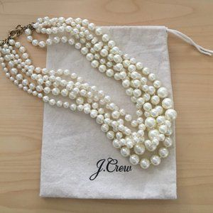J. Crew Hammock Pearl Necklace